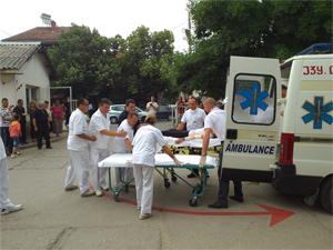 Симулациона вежба за проверка на подготвеноста на службите за итна медицинска помош во Струмица